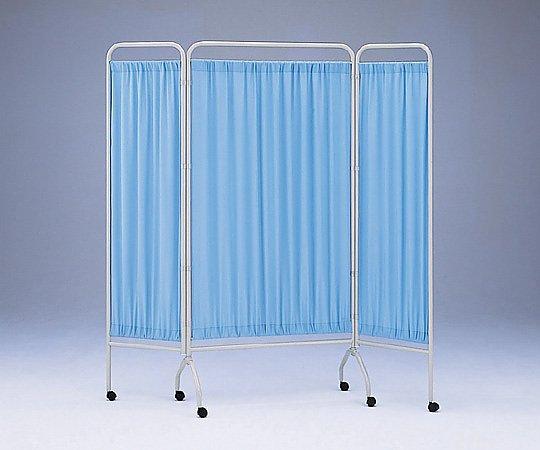 衝立[抗菌タイプ] 3枚 ブルー 900mm+450mm×2 CN-1845