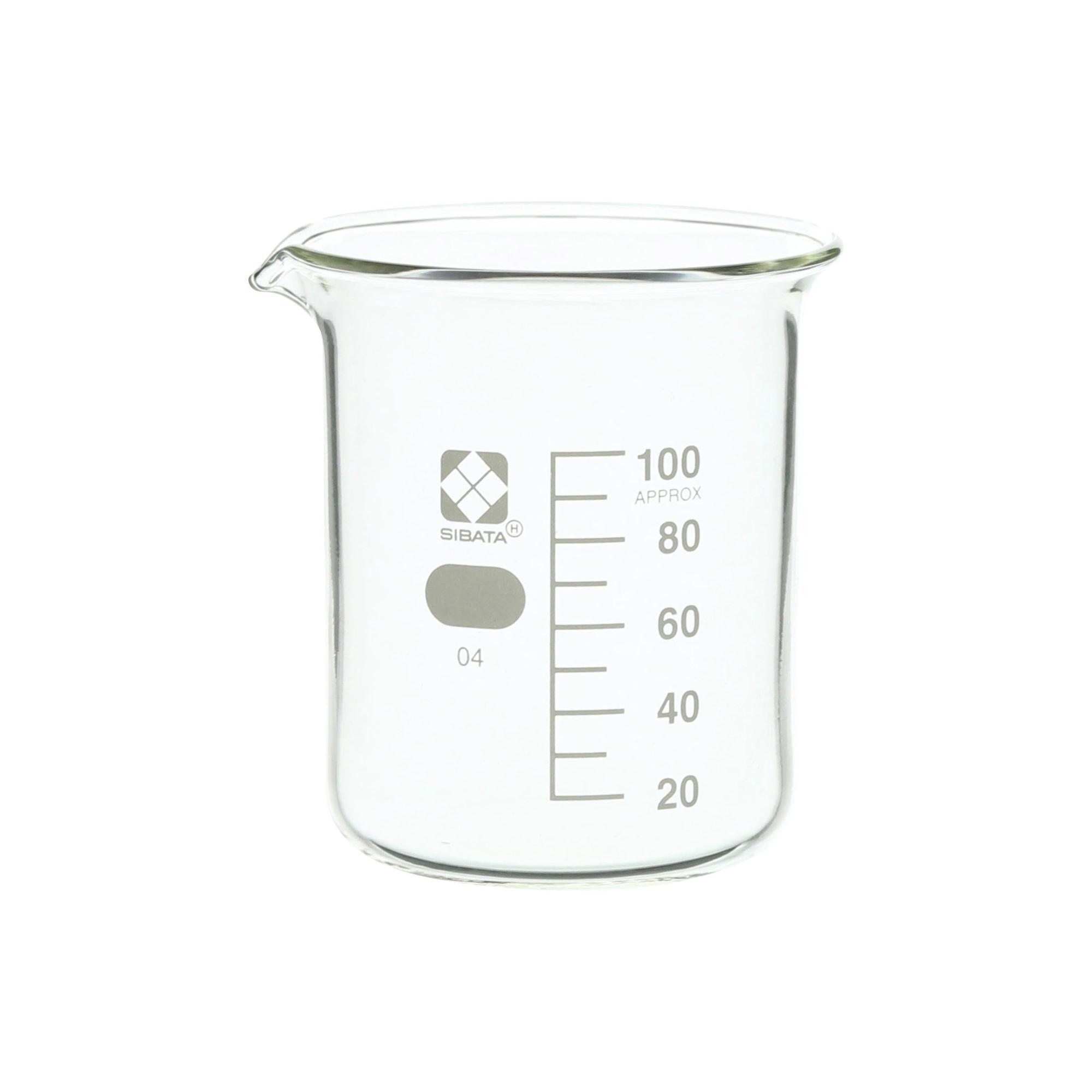 SIBATA ビーカー 目安目盛付 100mL(10個)