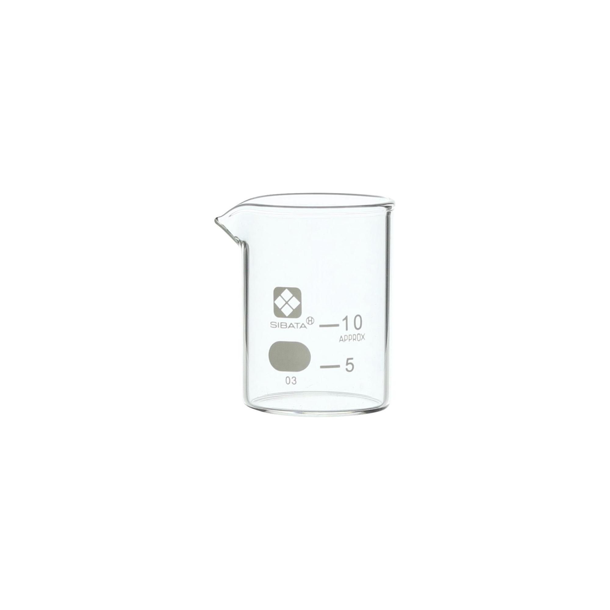 010020-10A SIBATA ビーカー 目安目盛付 10mL(6個) 柴田科学(SIBATA)