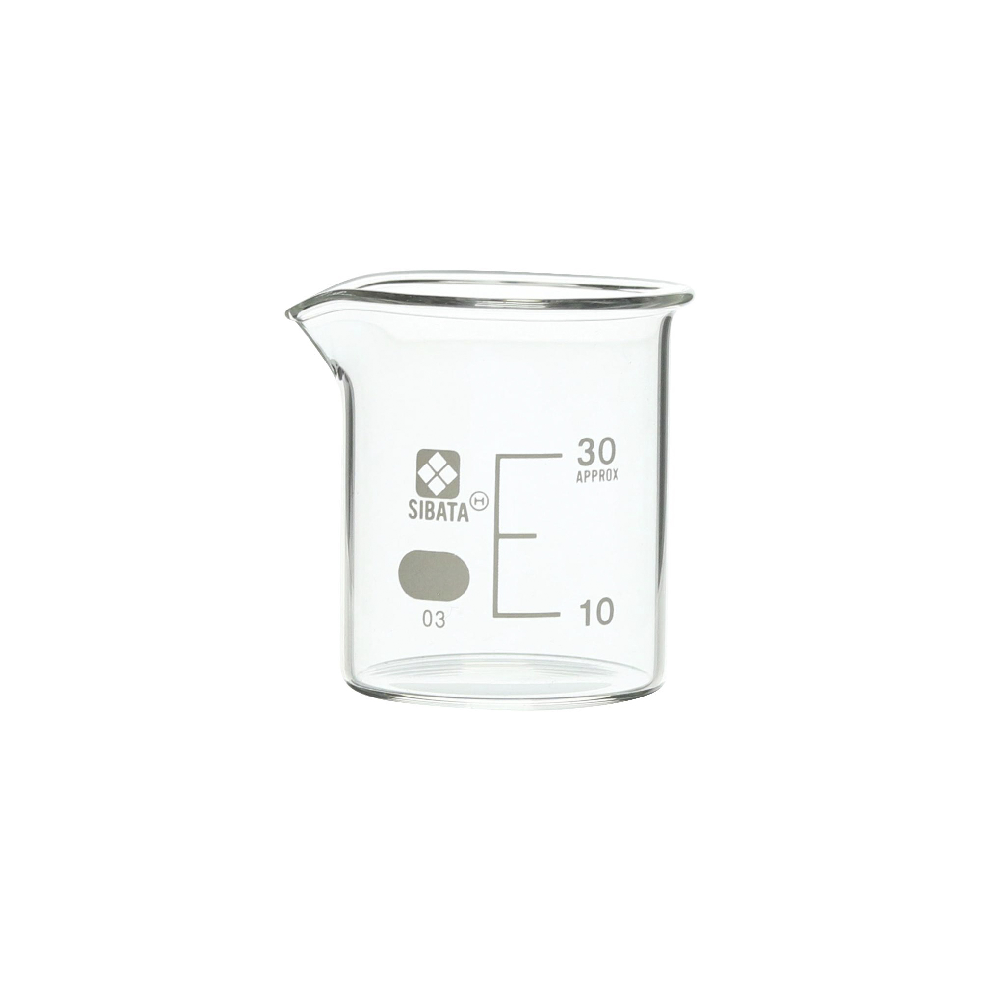 SIBATA ビーカー 目安目盛付 30mL(6個)