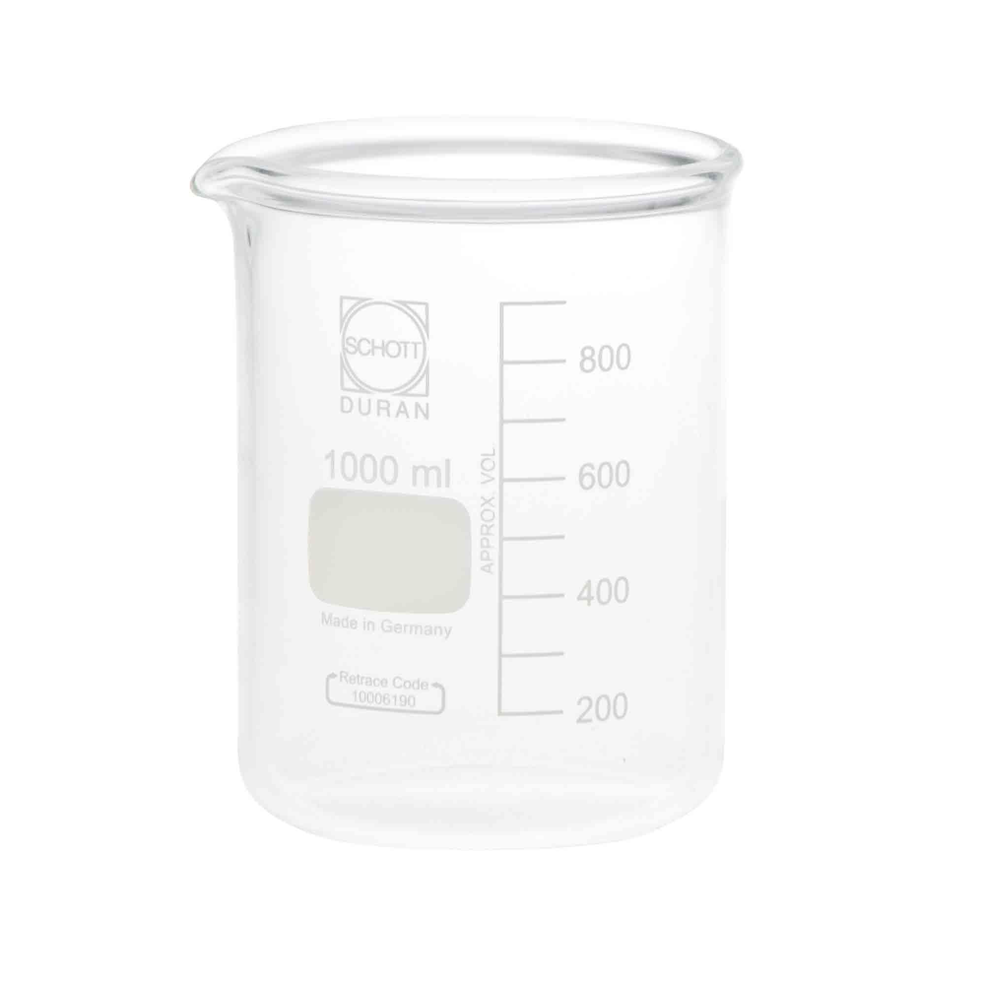 DURAN スーパー肉厚ビーカー 600mL(10個)