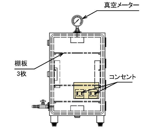 1-067-02 真空デシケーター VLH-C型 アズワン(AS ONE)