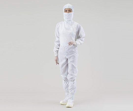 アズピュア クリーンルームウェア(フード別・サイドファスナー型)2210SW 白 M(1着)