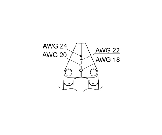 サーマルワイヤストリッパー用ベント型ブレード18-24AWG G2-1602 白光(HAKKO)