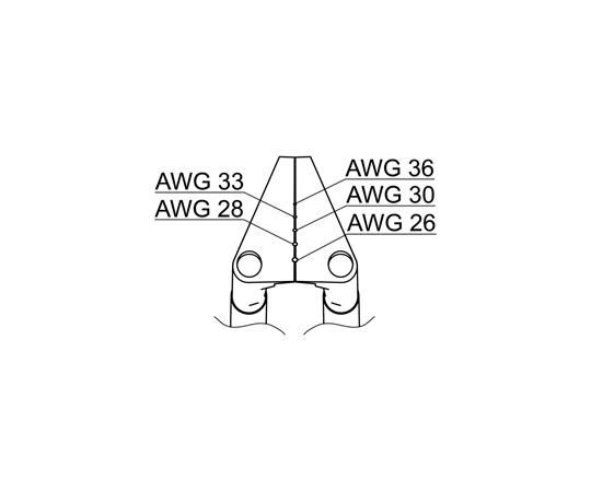 サーマルワイヤストリッパー用ベント型ブレード26-36AWG G2-1603