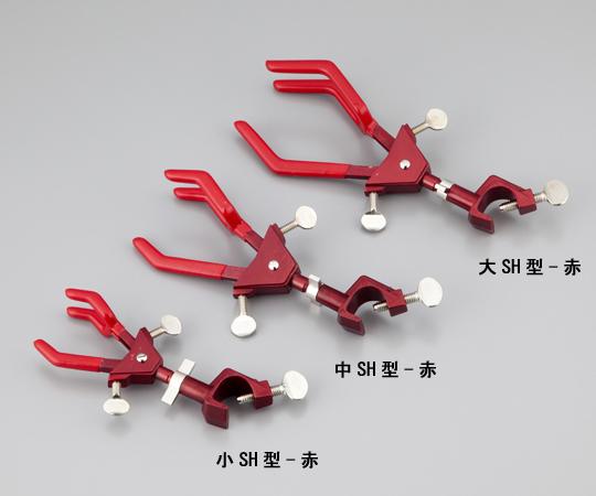 両開回転式ムッフ付クランプ 中SH型-赤