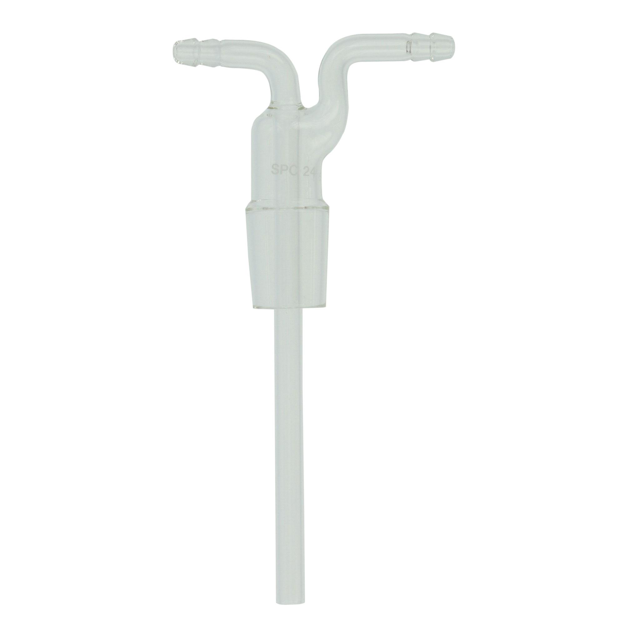 SPCガス洗浄びん三 角フラスコ形 中管 100mL用