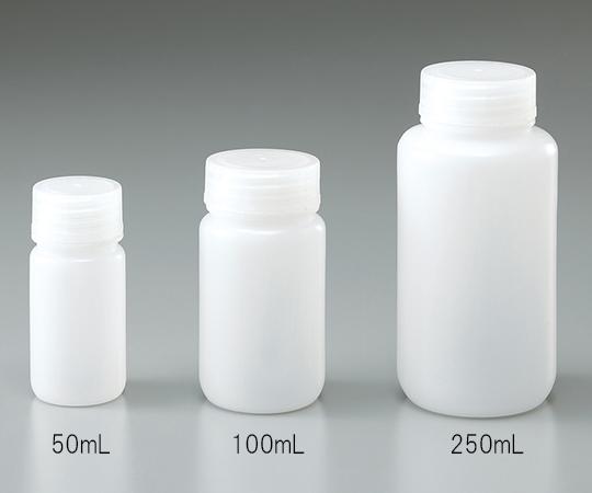 1-4658-72 広口瓶 HDPE製 50mL(100本) アズワン(AS ONE)