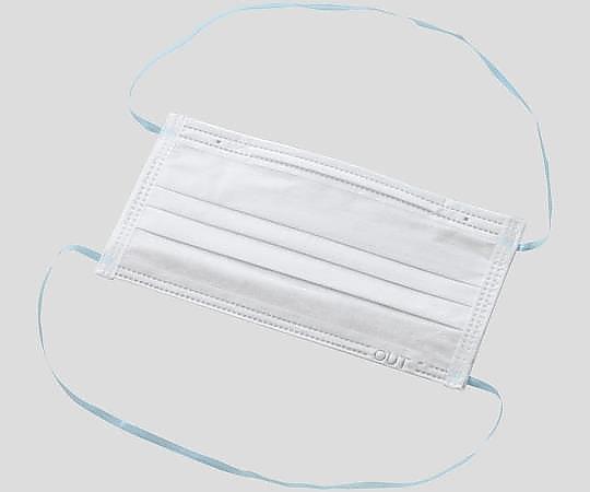 アズピュア クリーンルームフェイスマスク(3層・頭掛けタイプ) 3PLY-R(50枚×40袋)