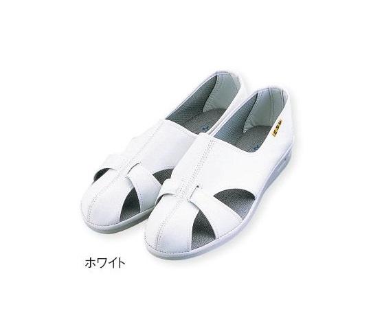 1-4812-05 アズピュア ベルタシューズ ホワイト 24.0cm(1足) アズワン(AS ONE)