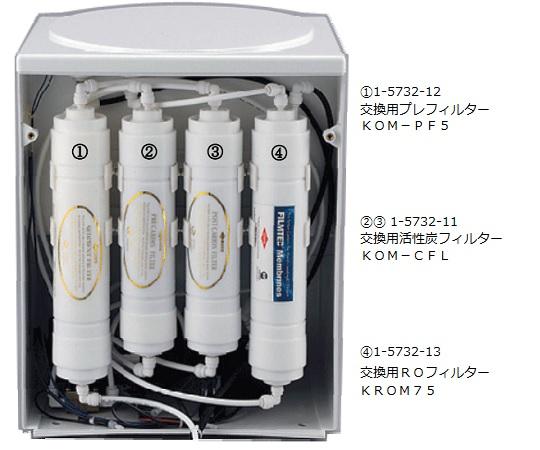 RO処理水製造装置 交換用ROフィルター KROM75 環境テクノス【Airis1.co.jp】