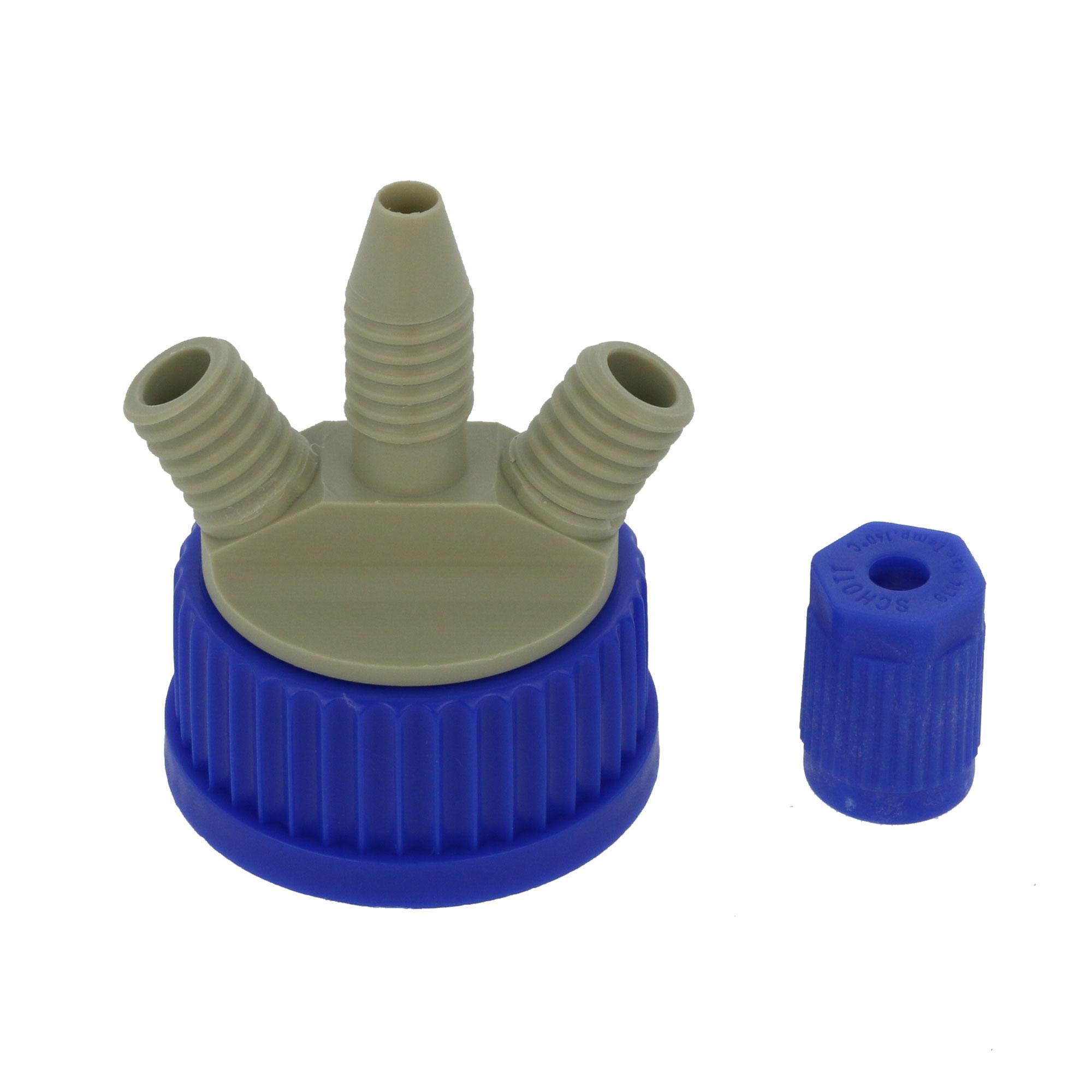 DURAN 撹拌容器キャップセット(シャフトなし) GL-45