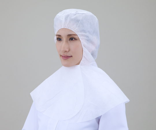 でんでん帽 ツバ無し・襟巻型 ホワイト CA-105(50枚)