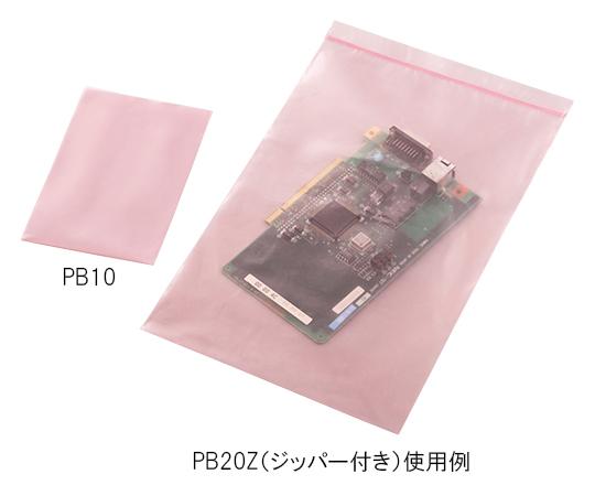 1-7054-11 静電気防止ポリバッグ 100×150mm ジッパー無 PB10(100枚) アズワン(AS ONE)