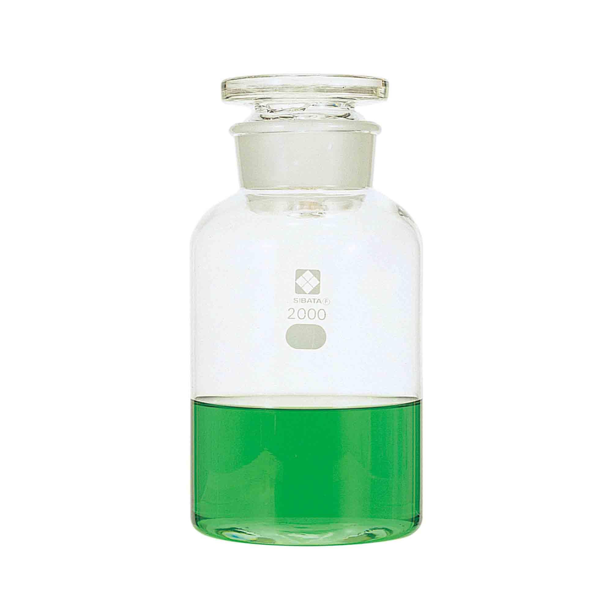 広口試薬びん 透明 1L