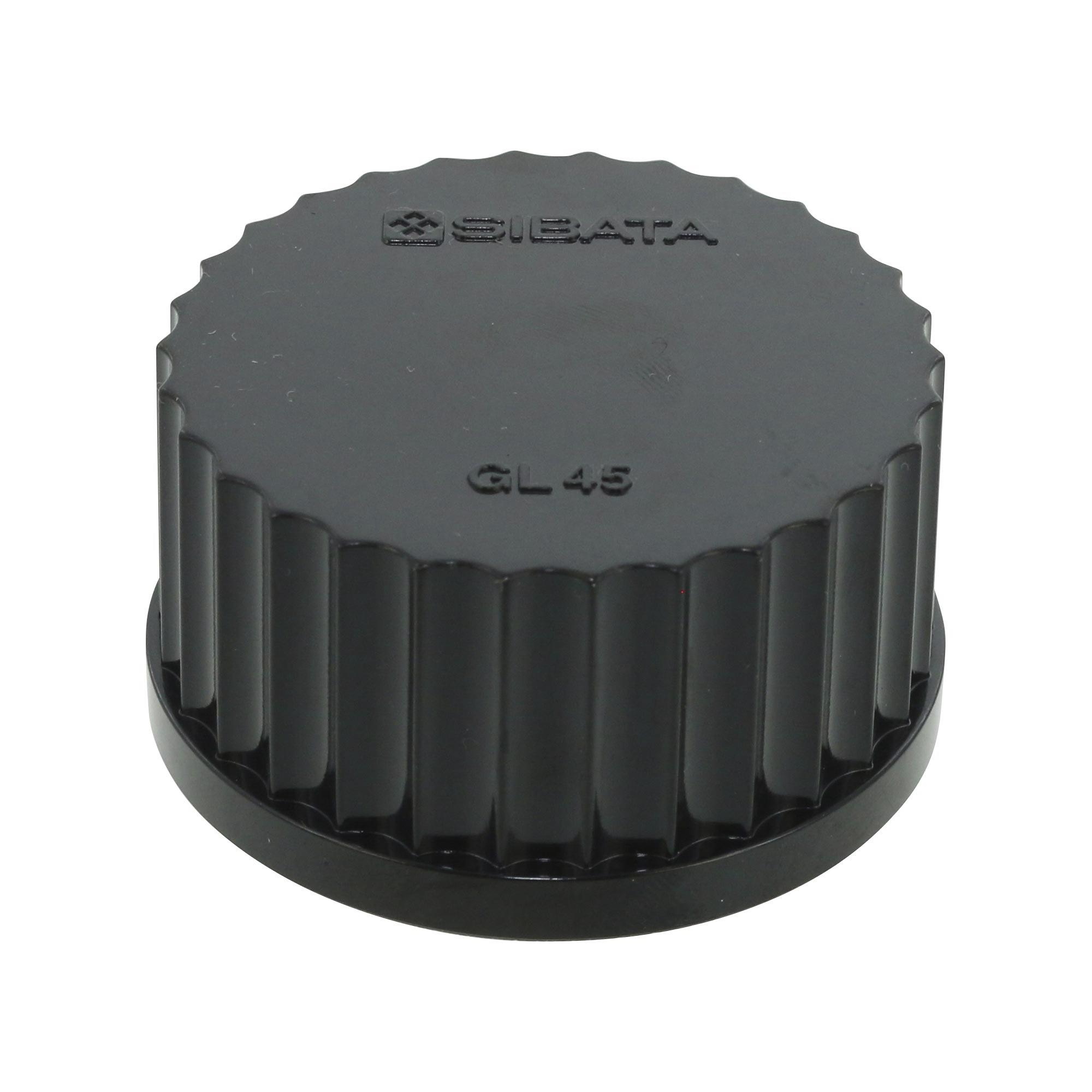 017200-450A ねじ口びん黒キャップ GL-45(10個) 柴田科学(SIBATA)