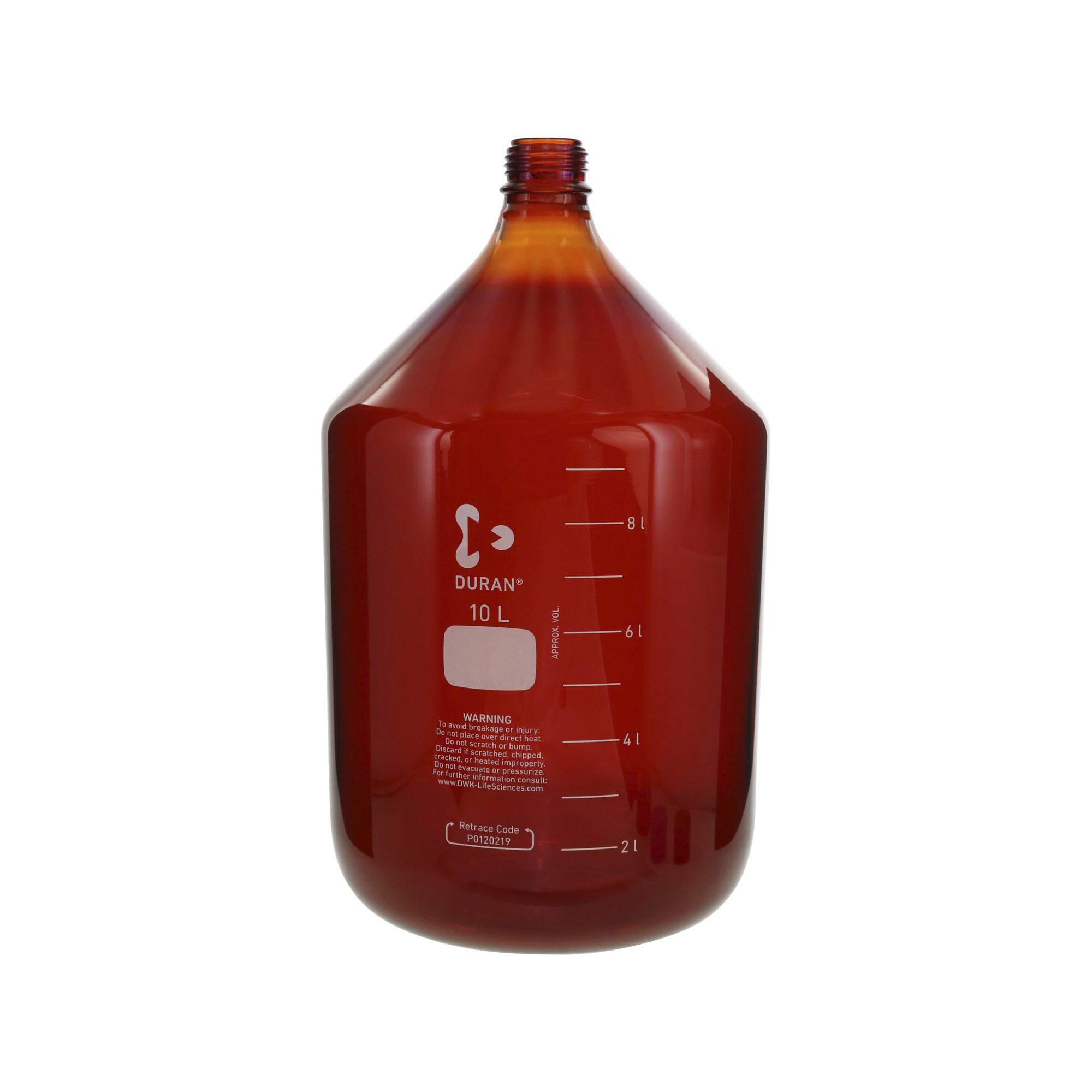 017210-100004 DURAN ねじ口びん(メジュームびん) 茶褐色 びんのみ 10L GL-45 柴田科学(SIBATA)