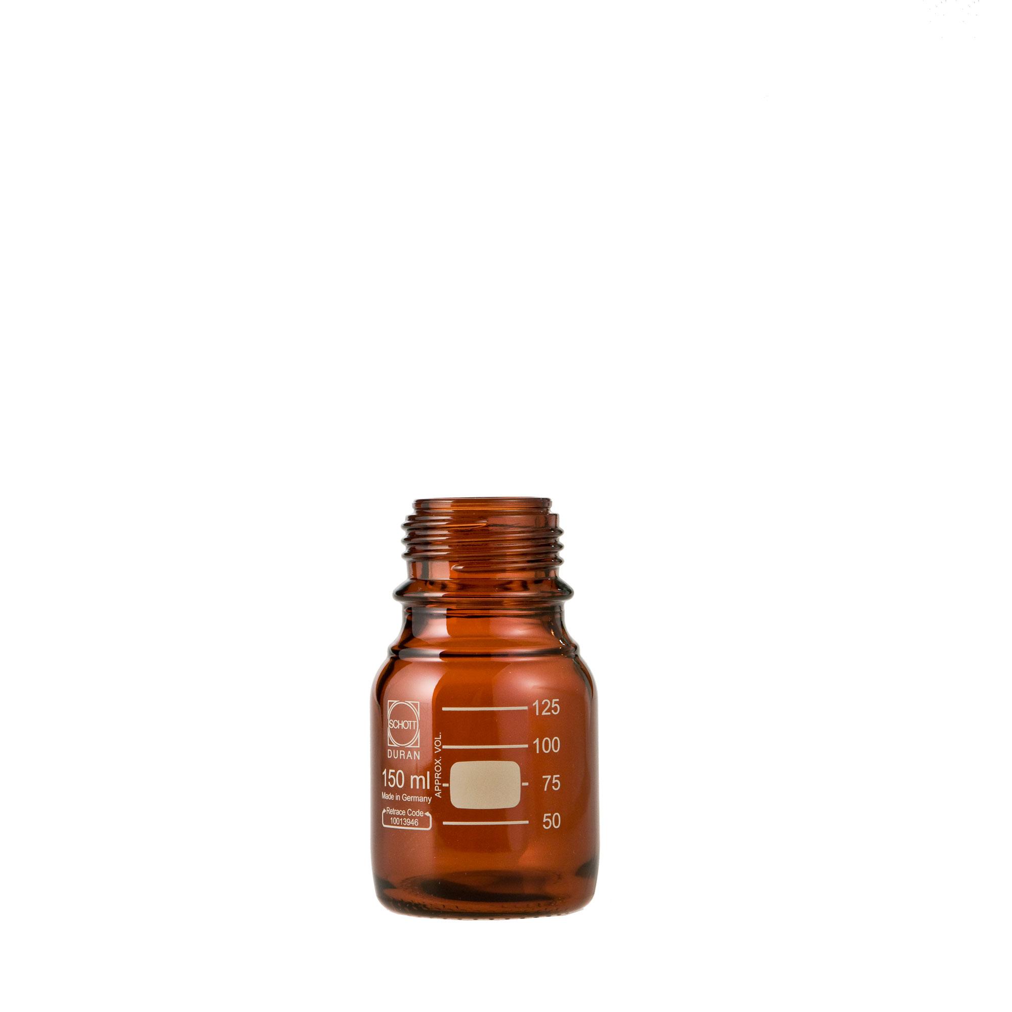 DURAN ねじ口びん(メジュームびん) 茶褐色 びんのみ 150mL GL-45(10個)