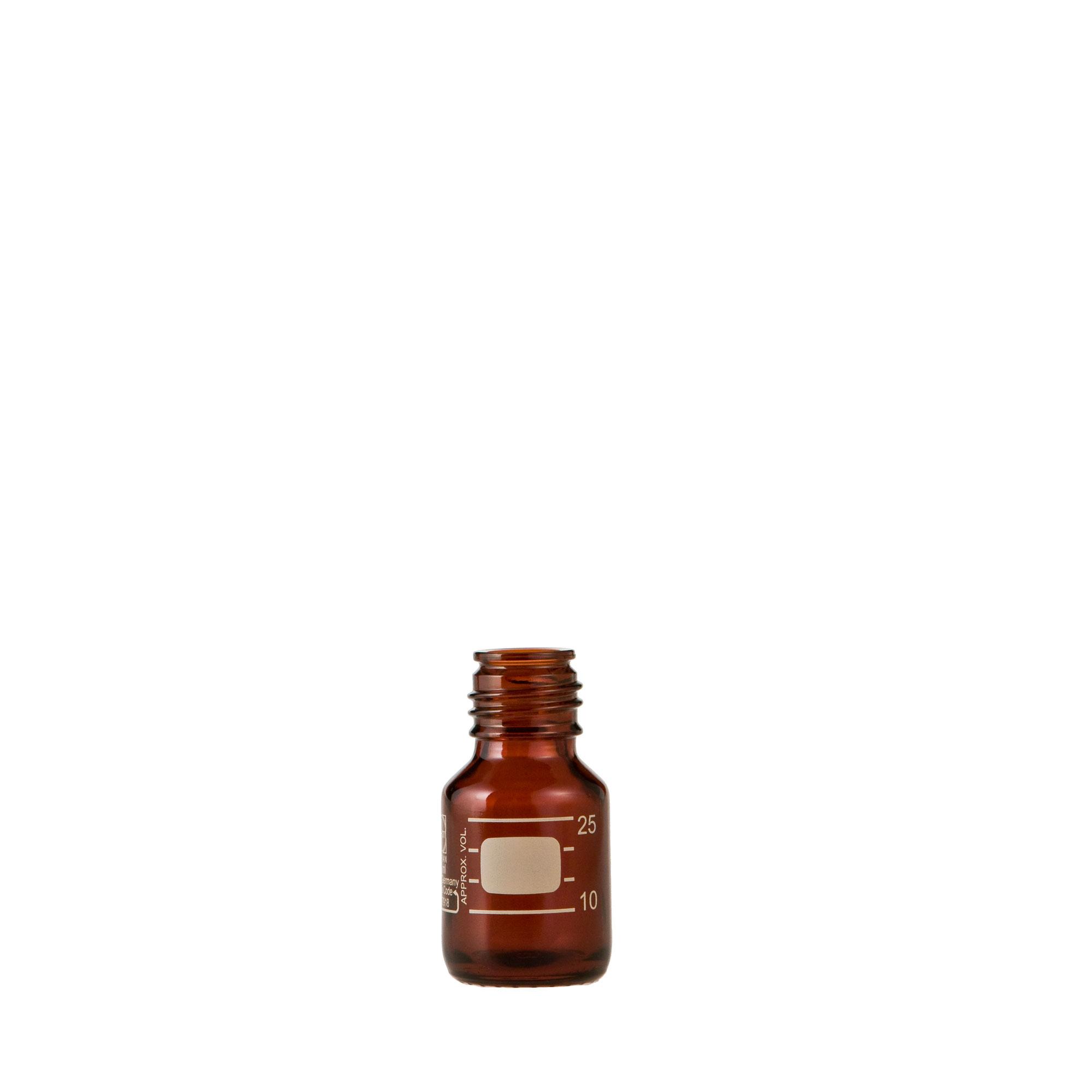 DURAN ねじ口びん(メジュームびん) 茶褐色 びんのみ 25mL GL-25(10個)