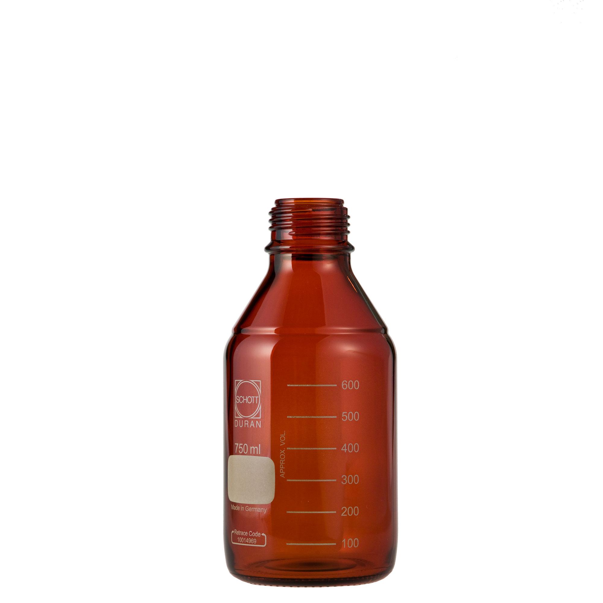DURAN ねじ口びん(メジュームびん) 茶褐色 びんのみ 750mL GL-45(10個)