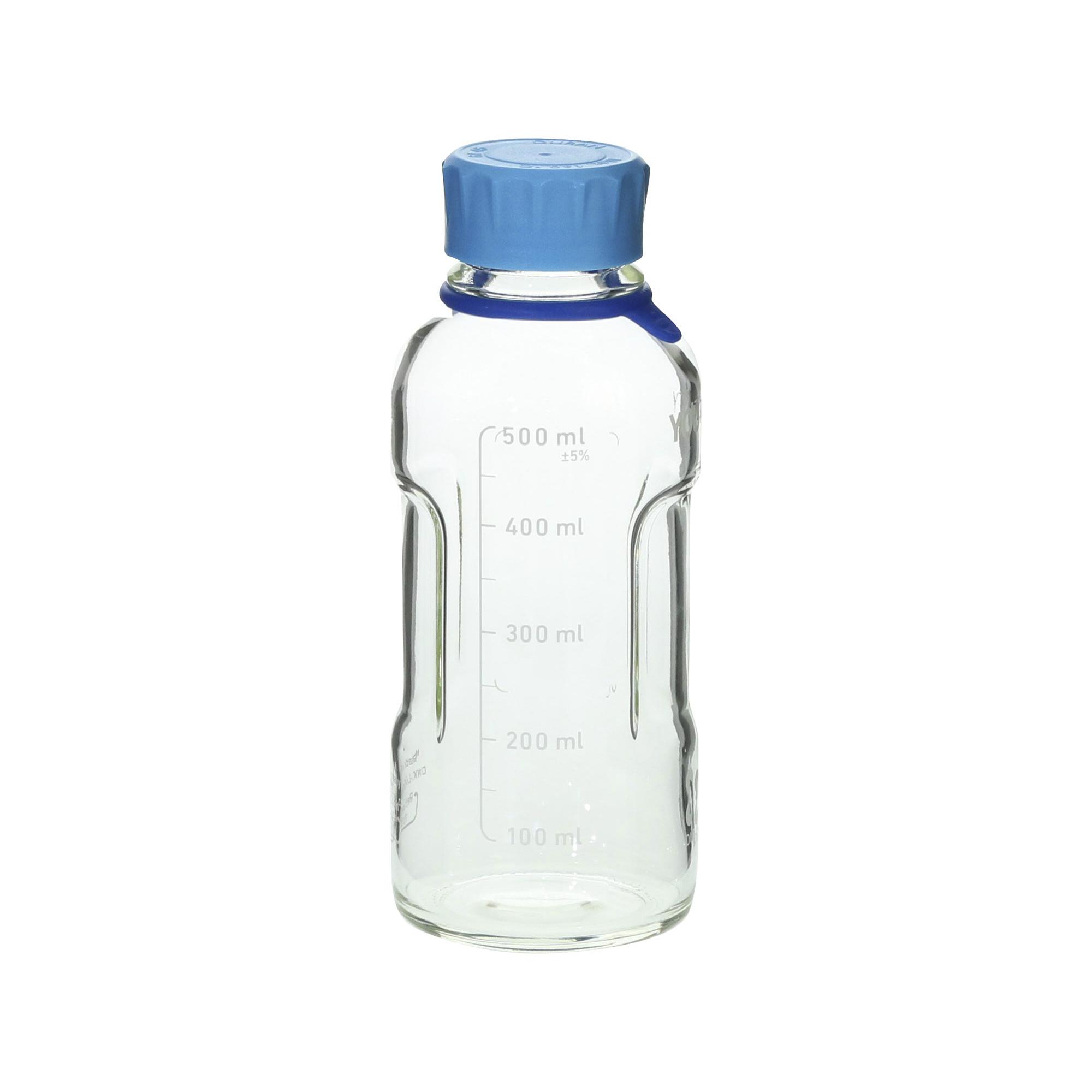 017310-500A DURAN ユーティリティーねじ口ボトル 水キャップ付 500mL(4個) 柴田科学(SIBATA)