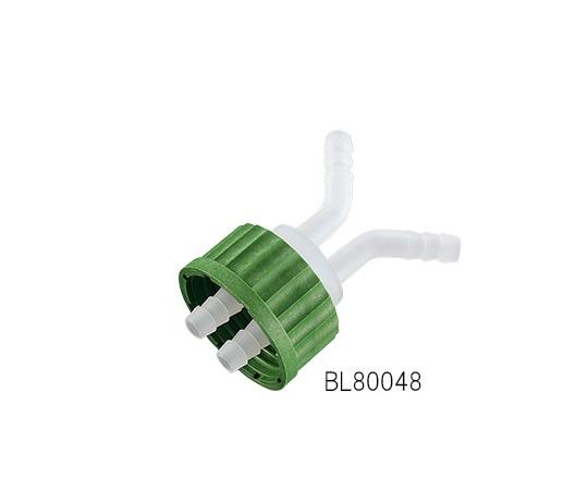 ねじ口瓶用キャップ(軟質チューブ用・GL45用)2ポート 接続チューブ内径8~10mm BL80048