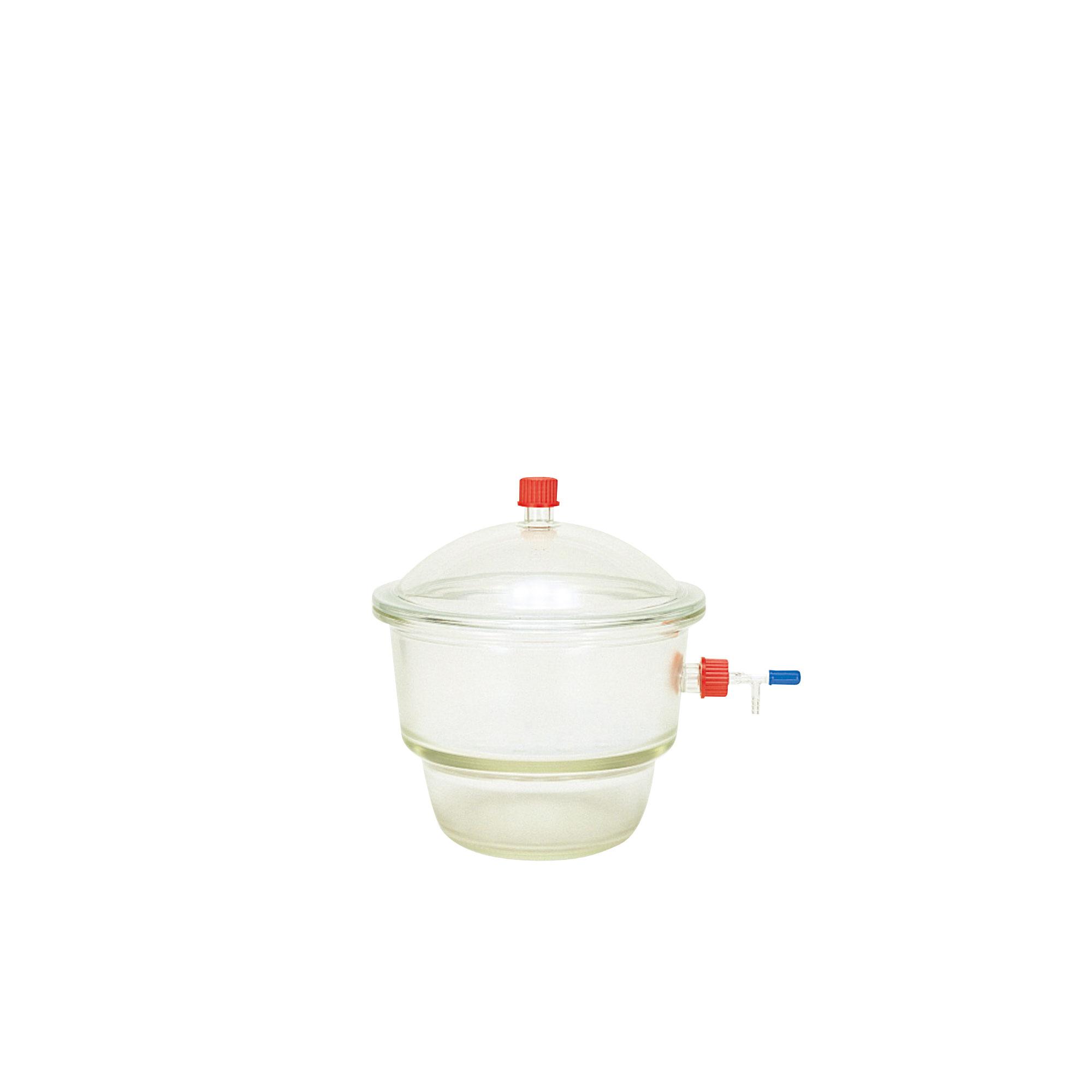 017450-300 DURAN ねじ口デシケーター 横口 コック付 中板 プラスチックキャップ付 GL-32 No.300 柴田科学(SIBATA)
