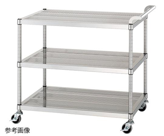 パンチングワゴン(ガード無し棚3段仕様) 900×450×800mm PM03-9045-NE75 シンコー