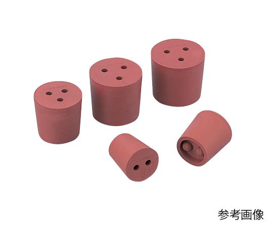 1-7649-08 穴付き赤ゴム栓 15号 アズワン(AS ONE)