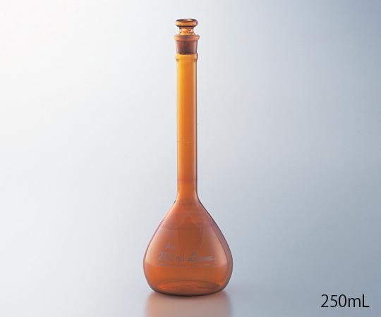 1-8565-21-24 メスフラスコ(JCSS校正付) 茶 5mL アズワン(AS ONE)