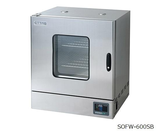 定温乾燥器(強制対流方式) ステンレスタイプ・窓付き 左扉 校正証明書付 SOFW-600SB