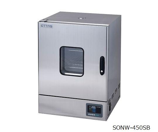 定温乾燥器(自然対流方式) ステンレスタイプ・窓付き 左扉 校正証明書付 SONW-450SB