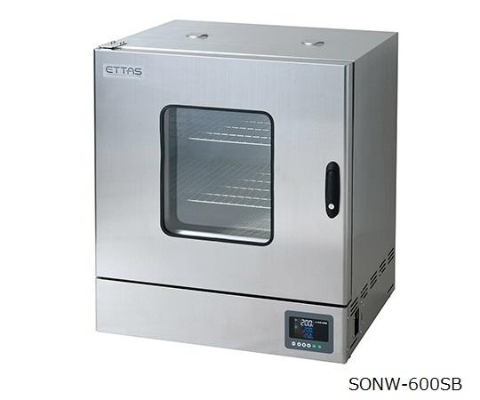 1-9001-53-20 定温乾燥器(自然対流方式) ステンレスタイプ・窓付き 左扉 校正証明書付 SONW-600SB アズワン(AS ONE)