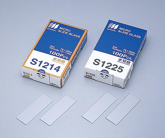 水スライドグラス S1214(100枚) 松波硝子工業