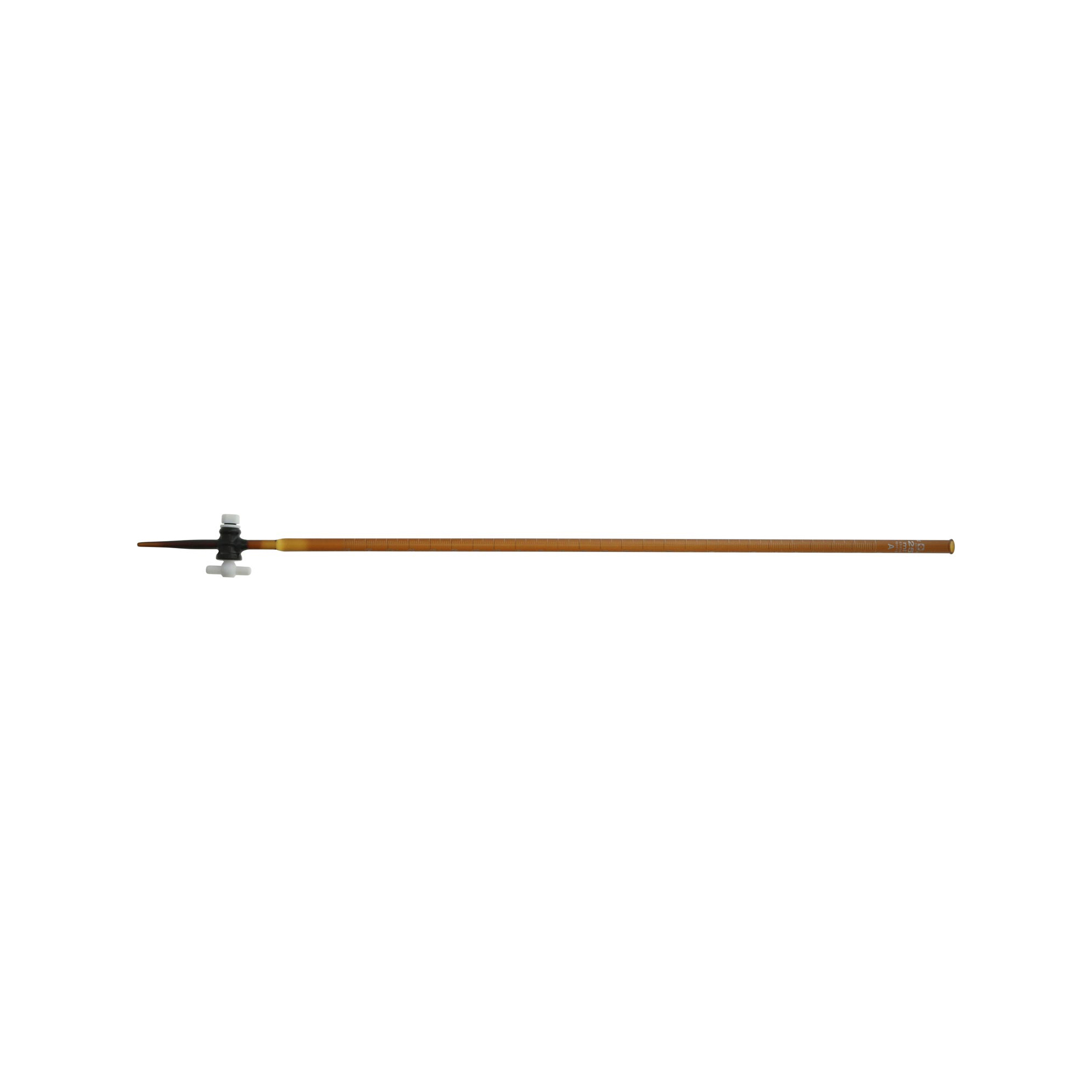 ビュレット スーパーグレード PTFEコック付 褐色 25mL