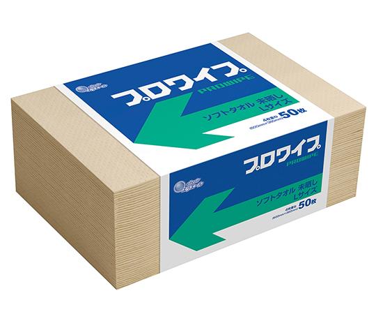 エリエール プロワイプ ソフトタオル 未晒帯どめLサイズ50 703524(50枚×12袋)