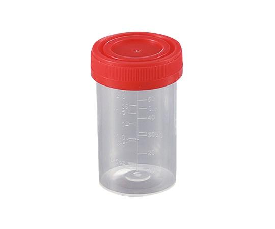 食品検体容器 60mL 赤 231402(100袋)