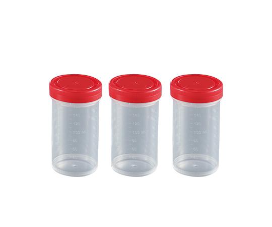 食品検体容器(スクリューキャップタイプ) 160mL 赤 28800EO(100個)