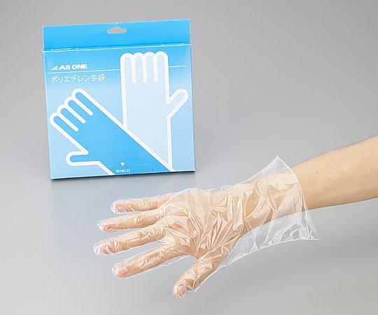 2-4973-02 ポリエチレン手袋(スタンダード) M(100枚) アズワン(AS ONE)