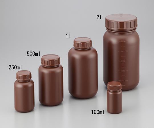広口丸型遮光瓶 5L (茶) ニッコー・ハンセン