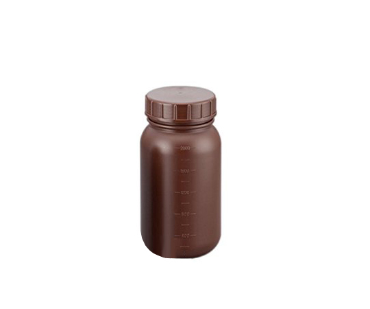 広口丸型遮光瓶 2L (茶)