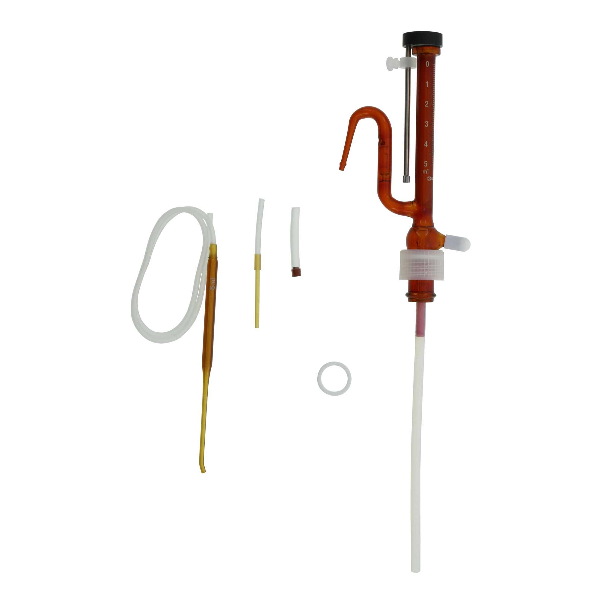 025120-51 分注器 リビューレット 褐色 本体 0.5-5mL 柴田科学(SIBATA)