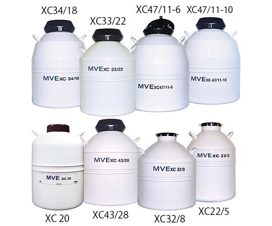 液体窒素保存容器 XC33/22 チャート