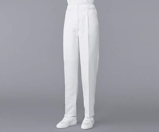 6-7526-14 無塵衣パンツ ホワイト M AS305B アズワン(AS ONE)
