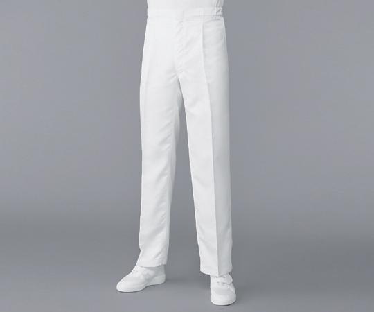 6-7525-13 無塵衣パンツ ホワイト L AS304A アズワン(AS ONE)