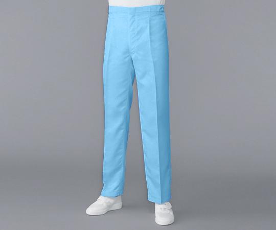 2-8305-16 無塵衣AS304A(男性用パンツ) ブルー 4L アズワン(AS ONE)