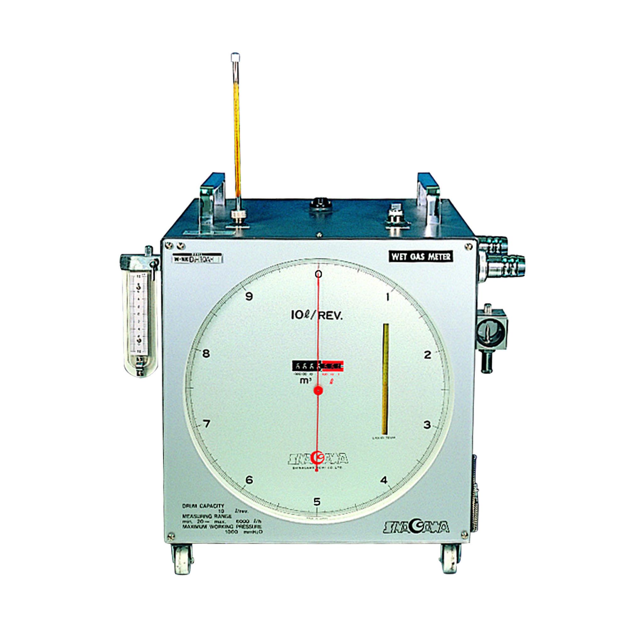 湿式ガスメーター 10L W-NK-10B(マノメーター1kPa付)