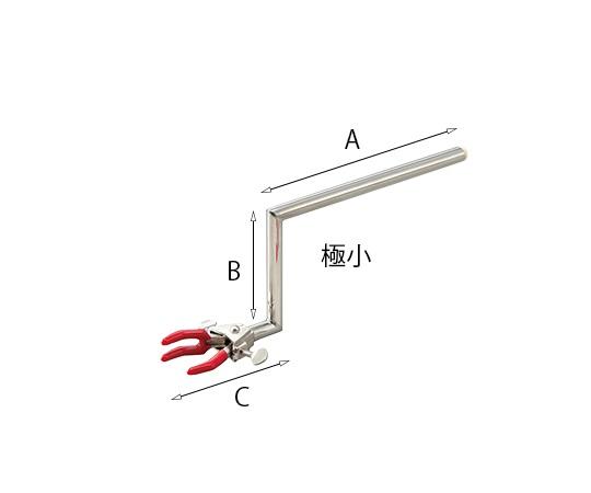 両開きクランプ クランク型・極小