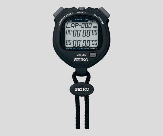 2-9869-01-24 デジタルストップウォッチ(ソーラー充電型) ブラック JCSS校正証明書付 SVAJ001 アズワン(AS ONE)