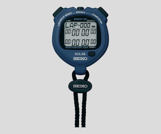 デジタルストップウォッチ(ソーラー充電型) ブルー JCSS校正証明書付 SVAJ005